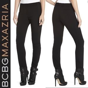 ❤️ BCBGmaxazria black paxton moto skinny pants XS